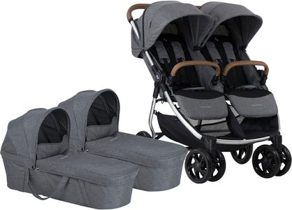 Crescent Duo Lightway Tvillingvagn, Grey Melange
