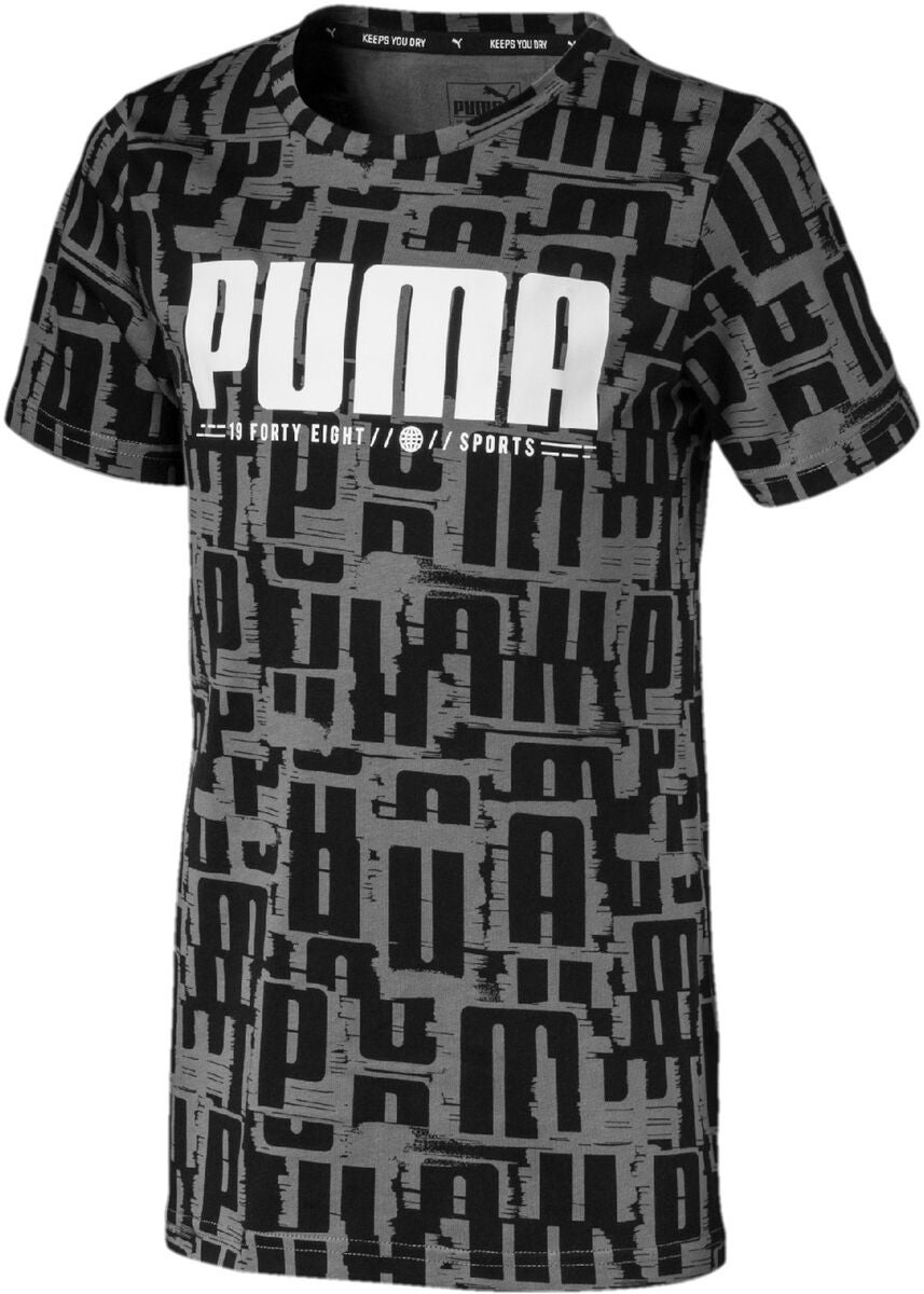 Puma Active Sports Aop T-Shirt, Black