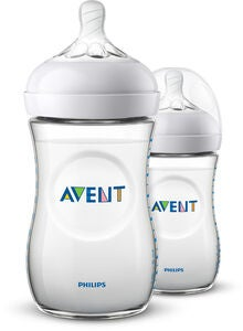 Philips Avent Natural Nappflaska 260ml inkl. Slow Flow Dinapp 2-pack