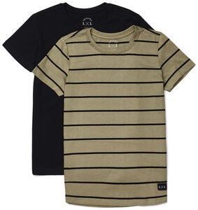 Luca & Lola Adelmo T-Shirt 2-pack, Black/Stripes