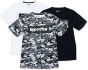 Hyperfied Edge T-Shirt 3-pack, Black/White/Camo Blue