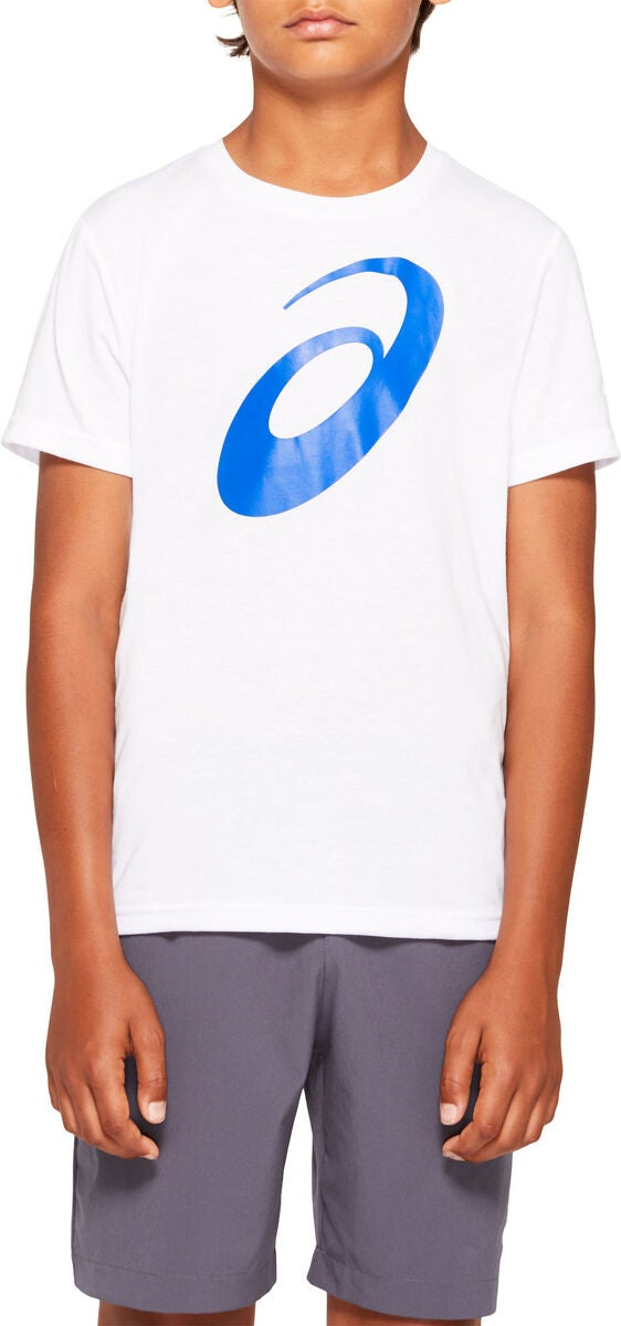 Asics Big Spiral T-shirt, Brilliant White