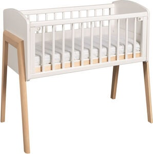 Troll Bedside Crib Come To Me, Vit/Natur