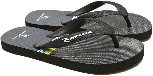 Rip Curl Kids Art Flip Flop, Black/White