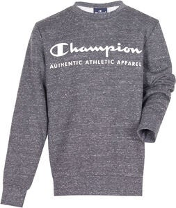 Champion Kids Crewneck Tröja, New Charcoal Grey Melange Dark