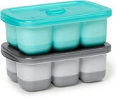 Skip Hop Easy-Fill Portionsform 2-pack, Grå/Turkos