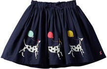 Tom Joule Ariel Applique Kjol, Navy Dalmatian