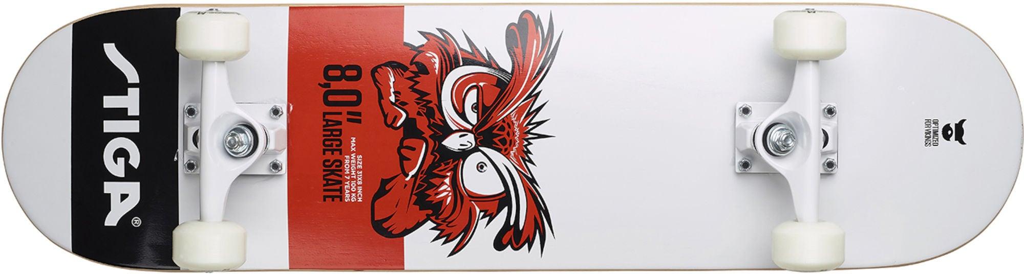 STIGA Skateboard Owl 8.0 Vit