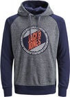Jack & Jones Mill Hoodie, Maritime Blue