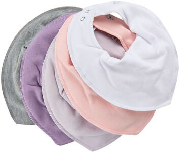 Pippi Bib 5-pack, Rose