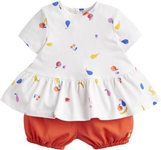 Tom Joule Topp & Shorts Set, White Fruit