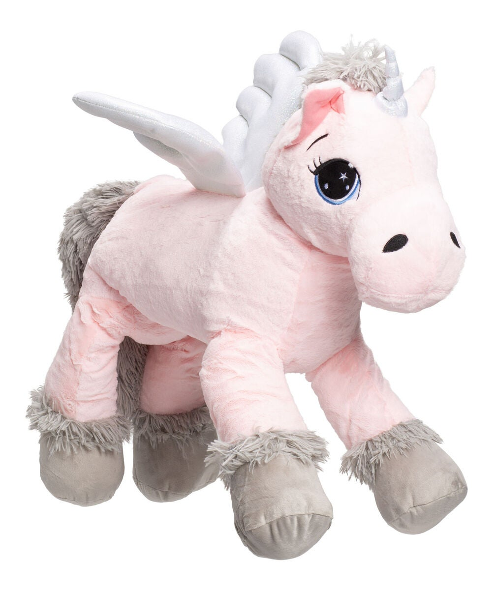 Cloudberry Castle Gosedjur Unicorn 80 cm, Rosa/Grå