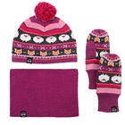 Kombi The Fox Fair Isle Vinterset, Magenta Mix