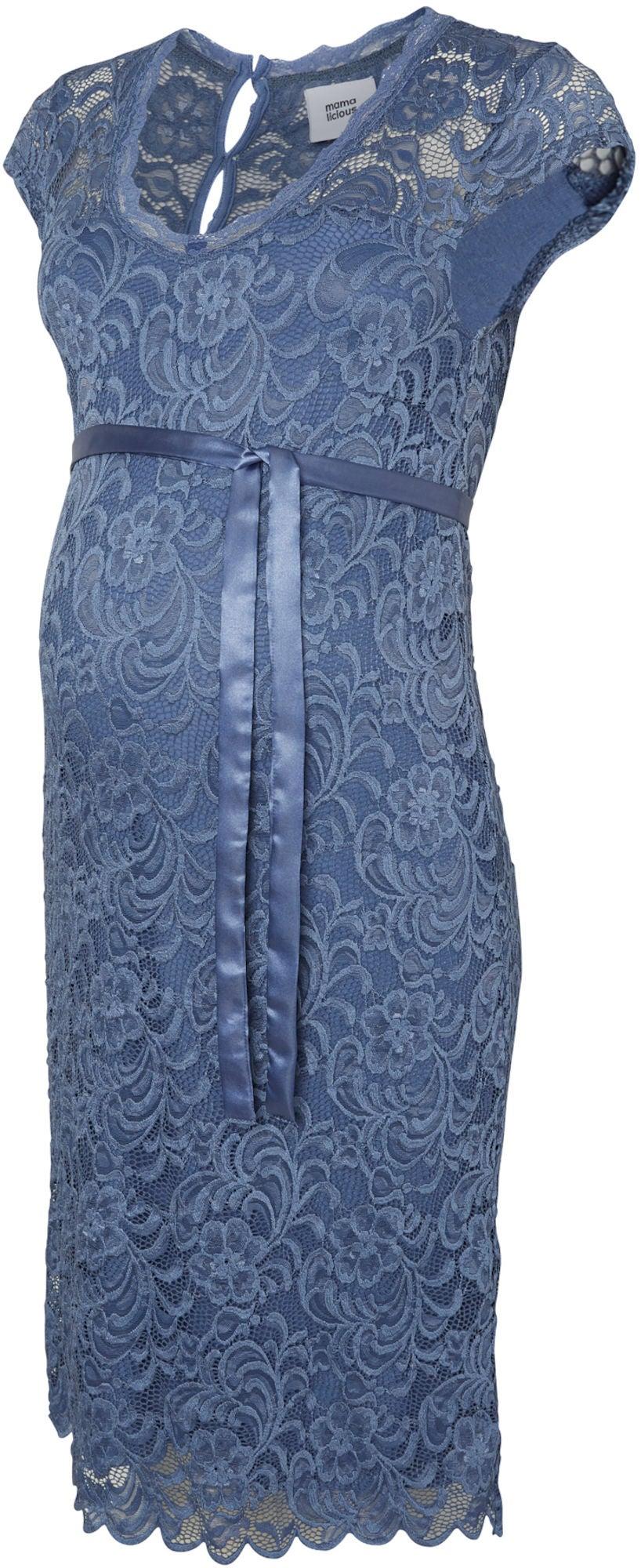 78632ac4c125 Köp Mamalicious Gravidklänning New Mivana, Colony Blue | Jollyroom