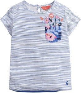 Tom Joule Applique T-Shirt, Blue Pencil Stripe