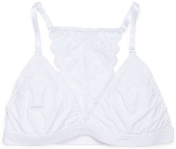 Milki Soft Lace Amnings-BH, White