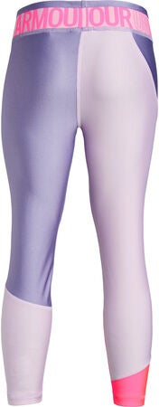 Under Armour HG Color Block Ankle Crop Legging, Purple Ace