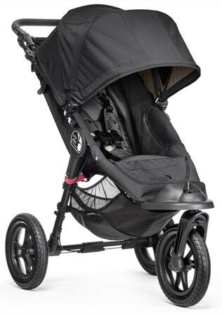 Baby Jogger City Elite Sittvagn Single och Maxi Cosi Cabriofix med bas, Black