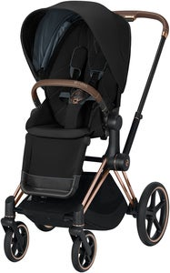 Cybex Priam Sittvagn, Deep Black/Rose Gold