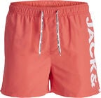 Jack & Jones Cali Badshorts, Hot Coral