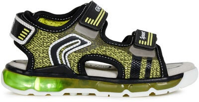 Geox Android Sandal, Lime/Black
