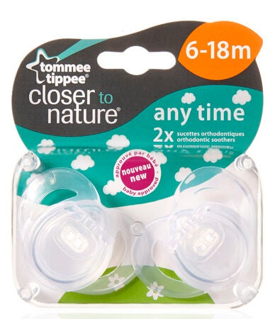 Tommee Tippee Napp Any Time 6-18M 2-p Transparent