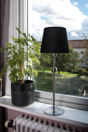 Just Light Lampfot Bordslampa Astrid, Krom