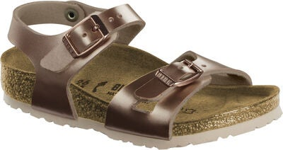 Birkenstock Rio Kids Sandal, Electric Metallic Copper