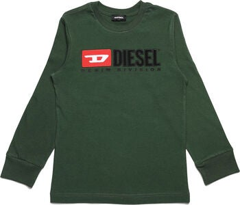 Diesel Tjustdivision Ml T-Shirt, Dark Green