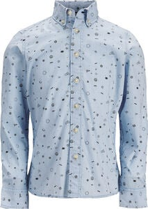 PRODUKT Space Aop Skjorta, Chambray Blue