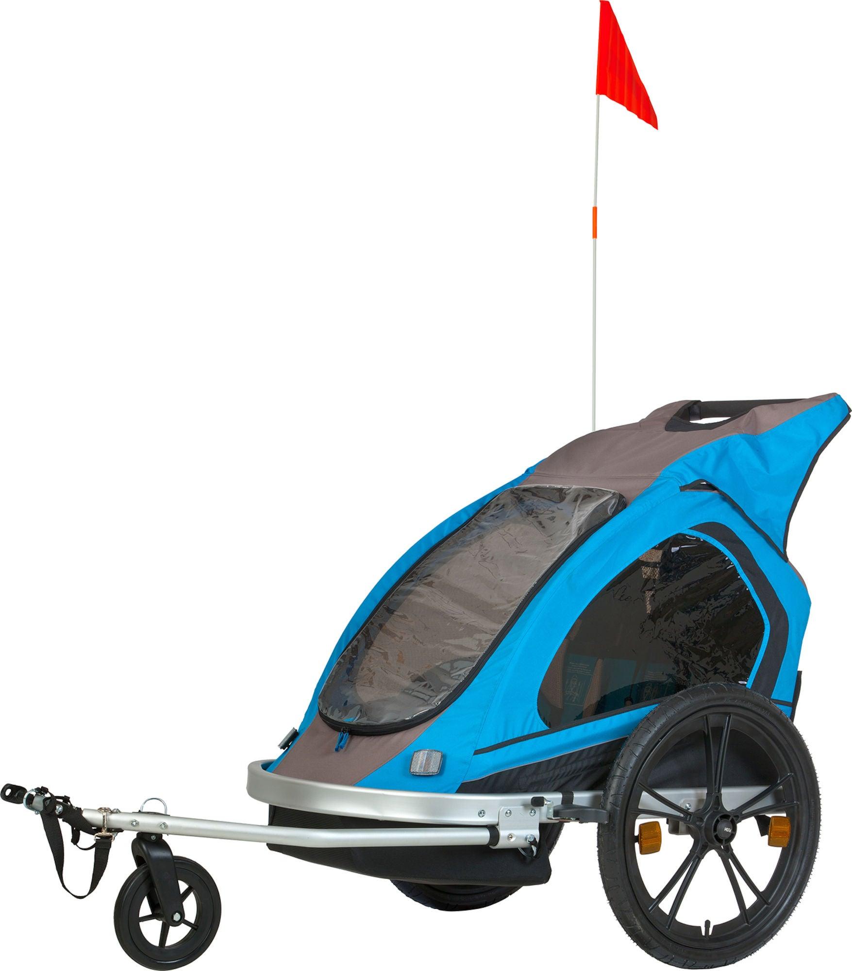 Spectra Cykelvagn Aluminium, Blå/Grön