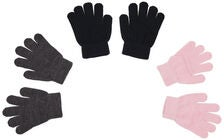 Nordbjørn Bergsfjord Fingervante 3-Pack, Pink/Black/Grey