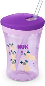 NUK Evolution Action Cup Mugg, Rosa