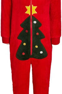Luca & Lola Kids Albero Jumpsuit, Red Christmas