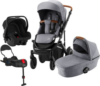 Britax Smile III Duovagn Inkl Primo Travelsystem, Frost Grey Brown