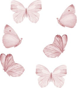 That's Mine Wallsticker Butterfly 6-pack, Rose