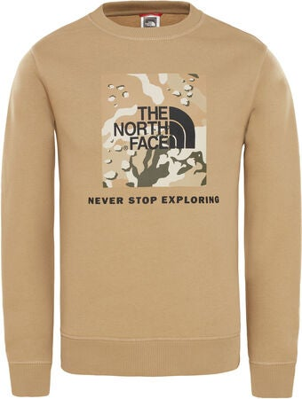 The North Face Box Crew Tröja, Kelp Tan