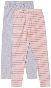Luca & Lola Agata Leggings 2-pack, Grey Melange/Stripes