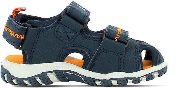 Leaf Runn Sandal, Navy/Orange