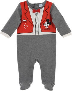 Disney Musse Pigg Pyjamasoverall, Dark Grey