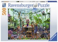 Ravensburger Pussel Greenhouse Mornings 500 Bitar
