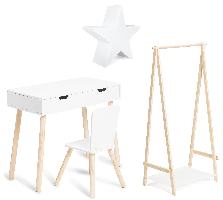 Cloudberry Castle Skrivbord, Lampa och Klädstång