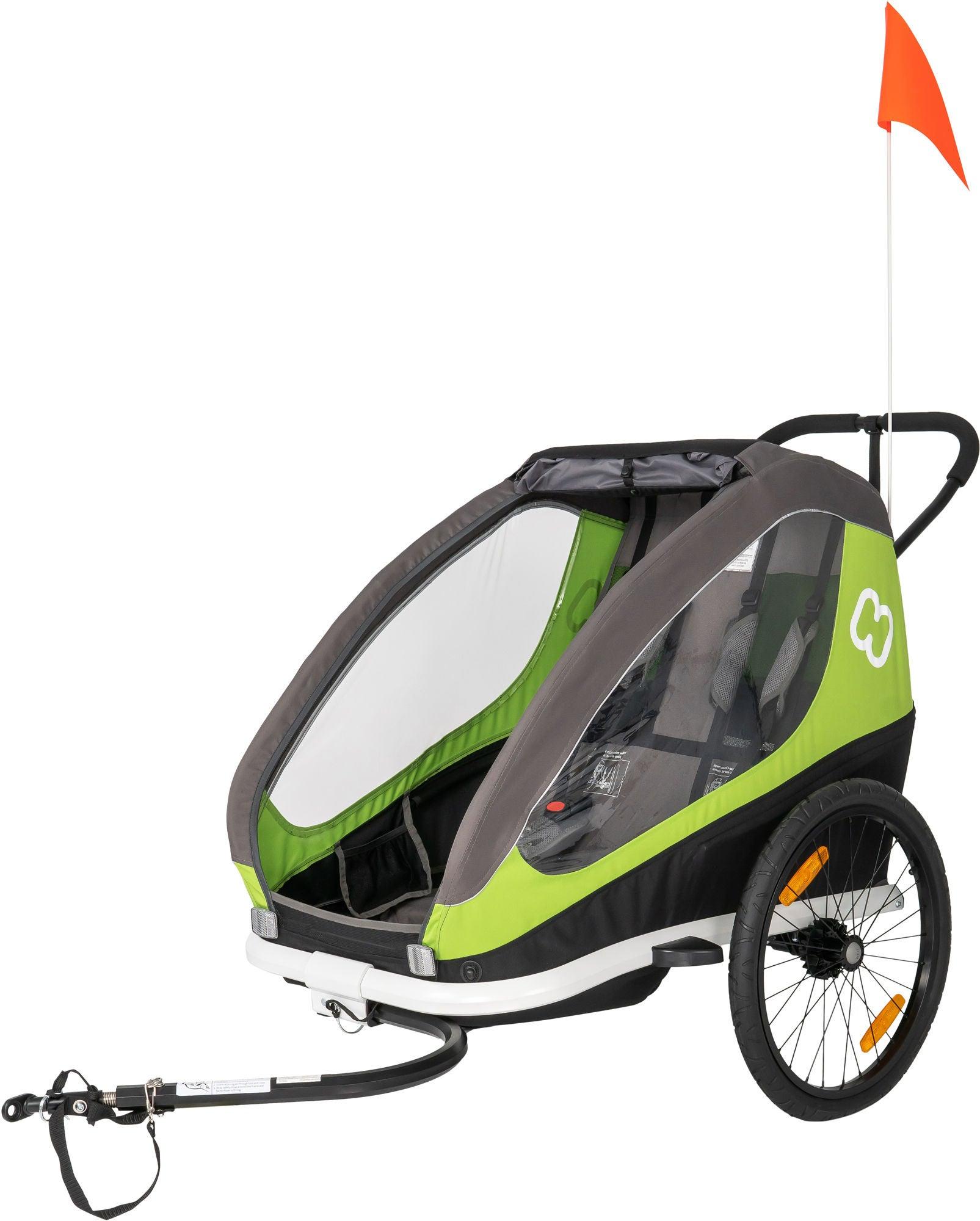 Hamax Traveller Cykelvagn, Grön