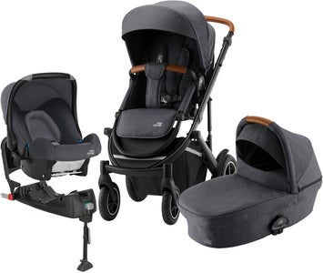 Britax Römer Smile 3 Duovagn Inkl Baby-Safe Travelsystem, Midnight Grey