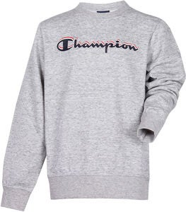 Champion Kids Crewneck Tröja, Grey Melange
