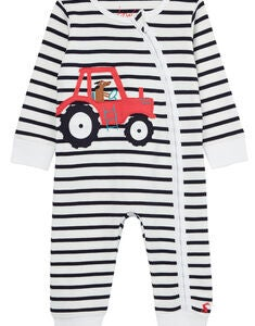 Tom Joule Winfield Pyjamas, White Navy Tractor