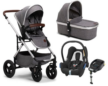 Petite Chérie Excellence 2, Grey Melange + Maxi Cosi Travelsystem