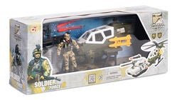 Soldier Force 9 Rapidfire Lekset Helikopter