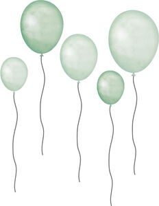 That's Mine Wallsticker Balloons 5-Pack, Grön