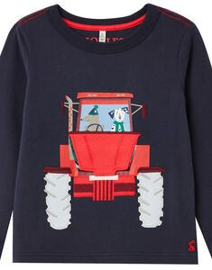 Tom Joule Chomp T-shirt, Navy Tractor